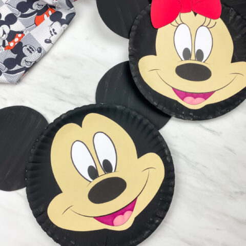 paper plate disney craft