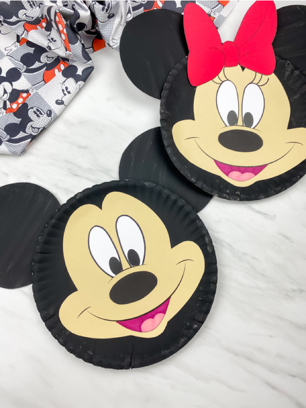 mickey and minnie mouse paper plate craft