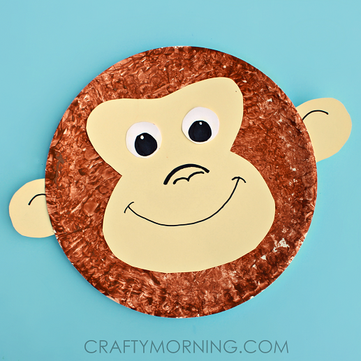 Paper Plate Monkey Kids Craft Idea