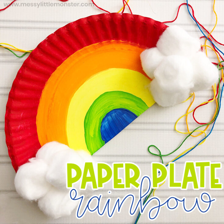 Paper Plate Rainbow Craft for Toddlers and Preschoolers