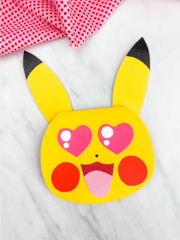 pikachu valentine card craft