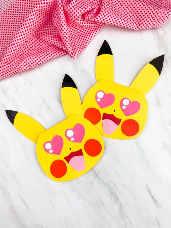 pikachu valentine card