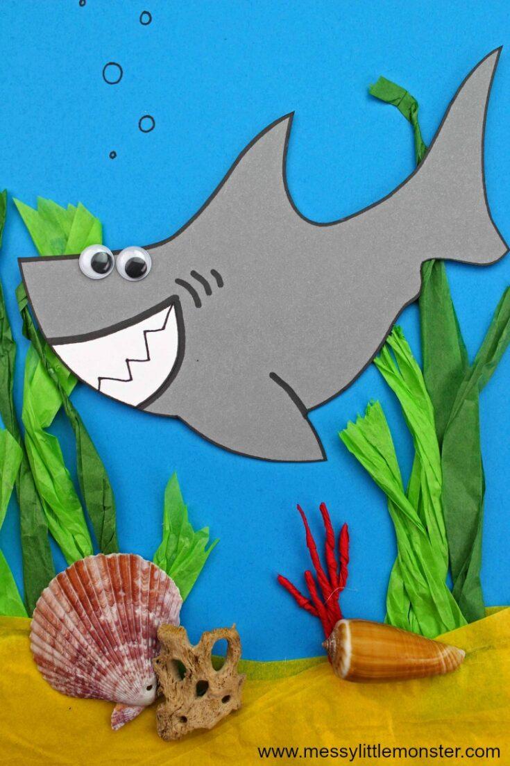 Easy Shark Craft - A fun ocean themed activity