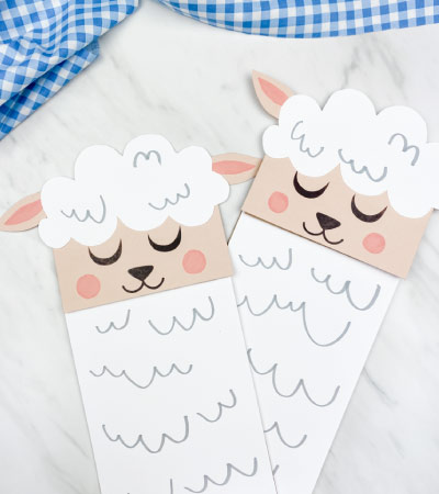 2 paper bag sheep crafts