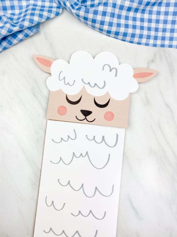 white and brown sheep craft