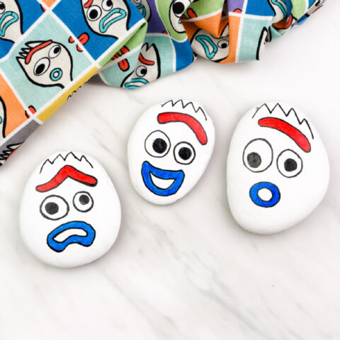 Forky Painted Rocks For Kids