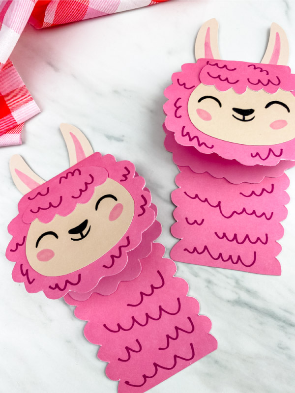 easy llama craft for valentine's day