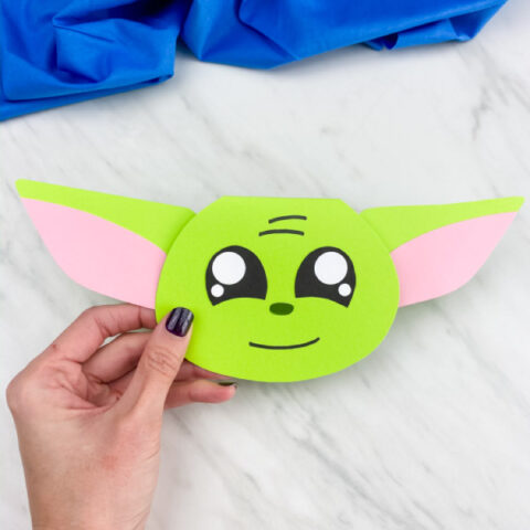 Star Wars Yoda Card Craft
