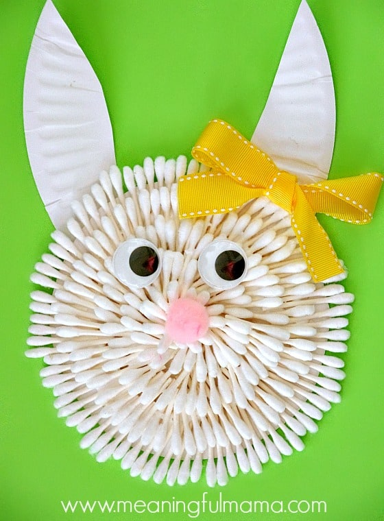 Easter Bunny Craft with Q-Tips