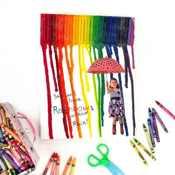 Rainbow DIY Melted Crayon Art Canvas Gift That Is So Cute It Will Make Them Cry!