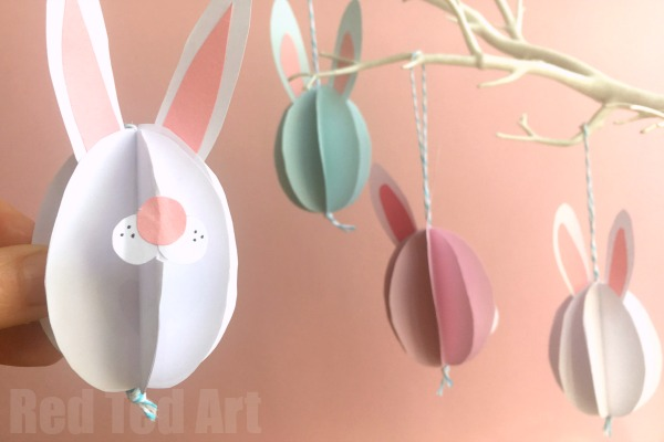 Easy Paper Bunny Craft - Bunny Easter Decorations