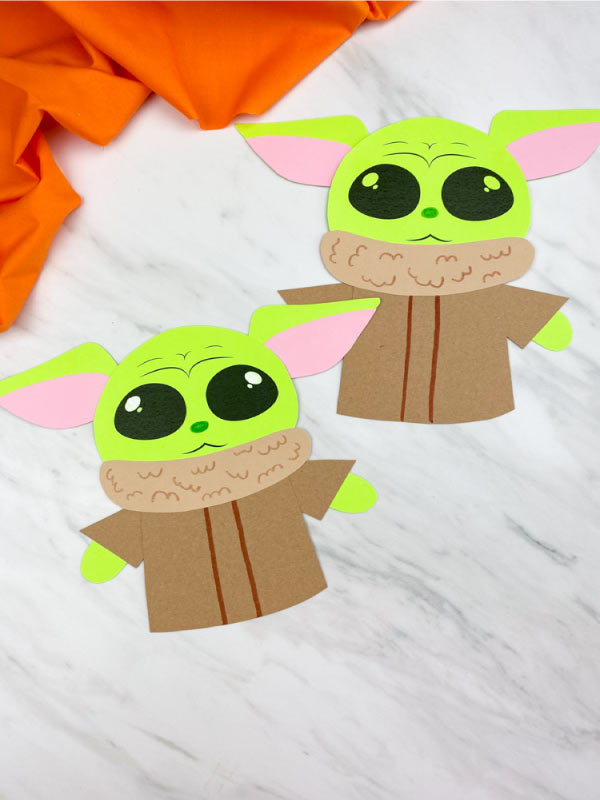 two baby yoda crafts