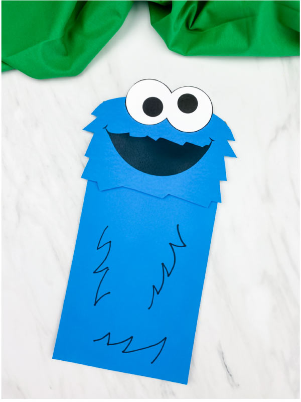 cookie monster puppet craft