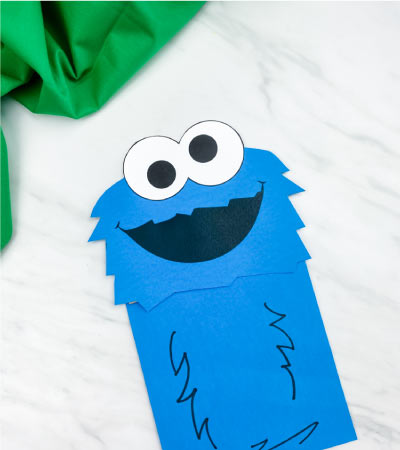 cookie monster paper bag puppet craft