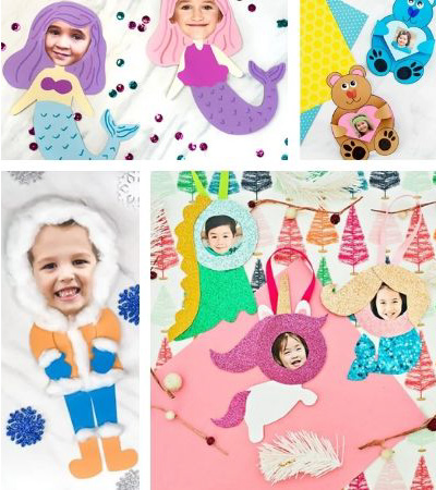 Collage of photo crafts for kids images