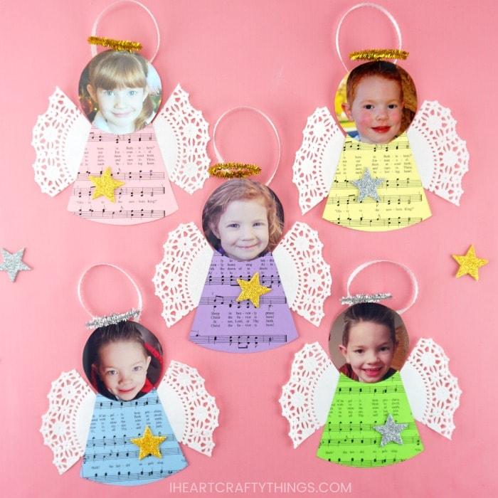 DIY Angel Ornaments -Cute Homemade Christmas photo ornaments