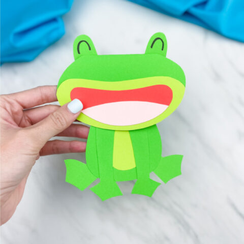 Frog Card Craft For Kids