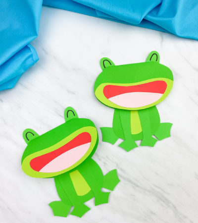 2 paper frog card crafts