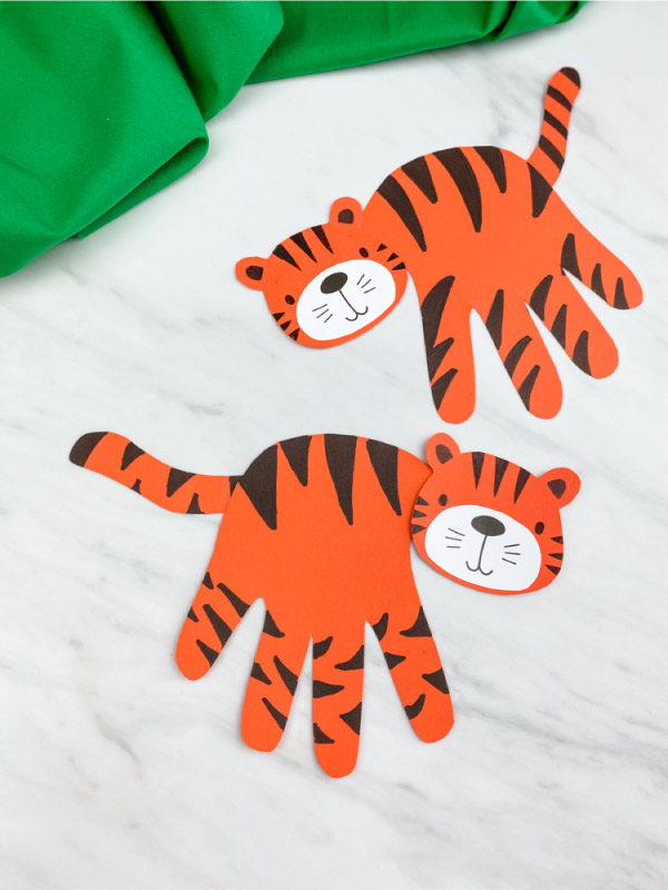 two handprint tiger crafts