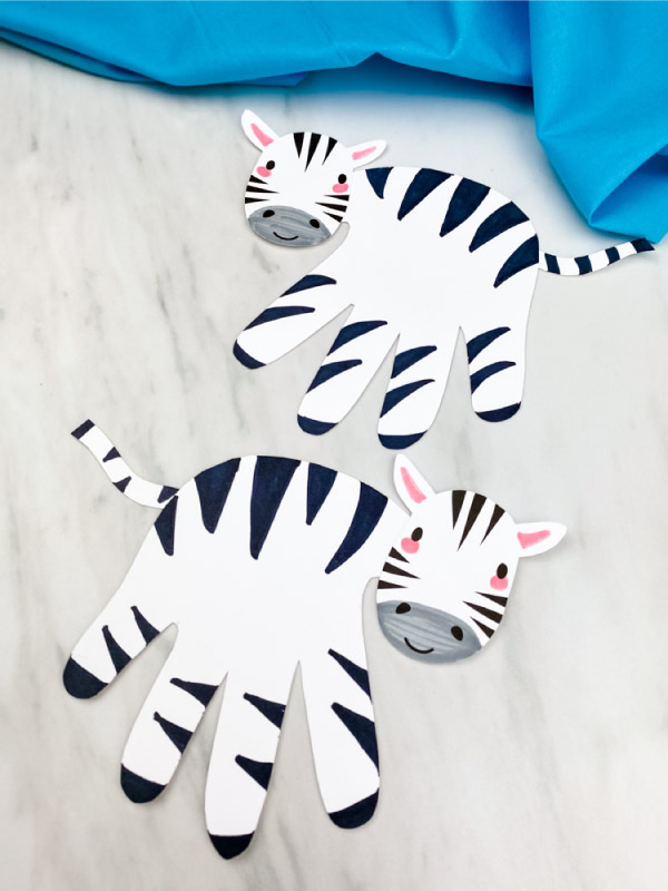 two handprint zebras