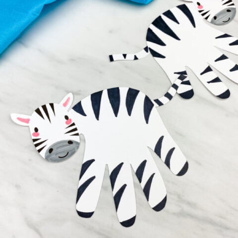 Handprint Zebra Craft For Kids