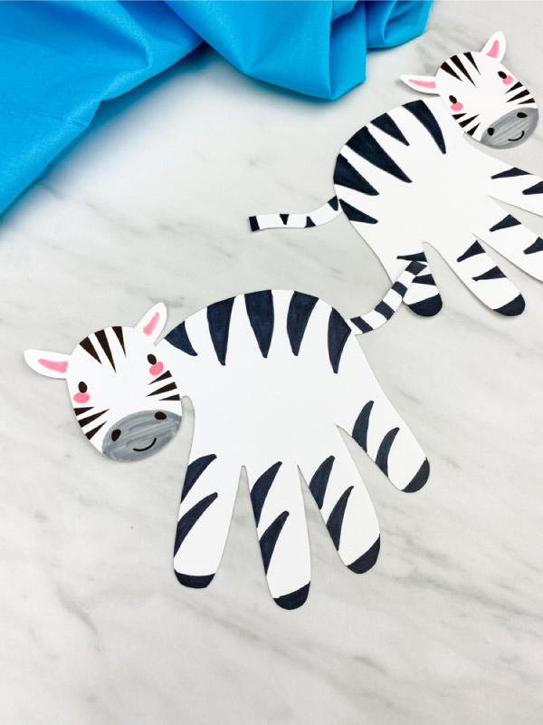 child handprint zebra