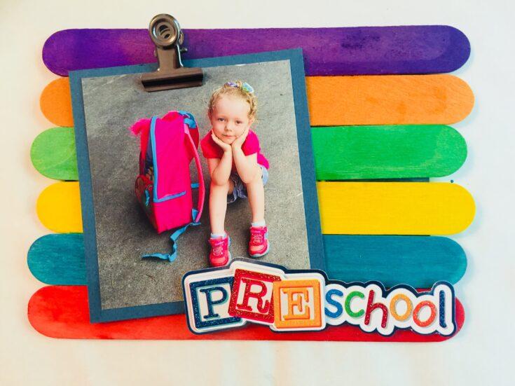 Back to School Popsicle Stick Frame Craft