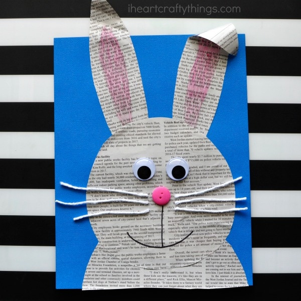 Simple and Easy Newspaper Bunny Craft
