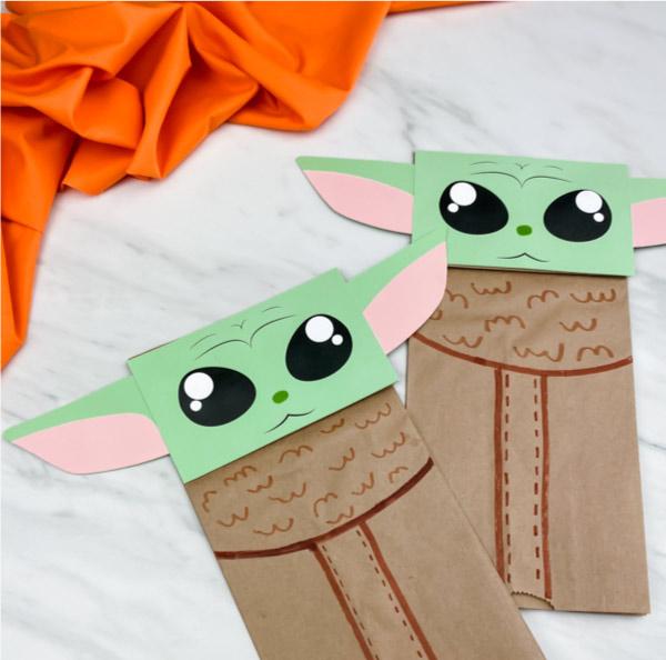 paper bag baby yoda