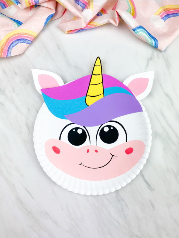 paper plate unicorn craft for kids
