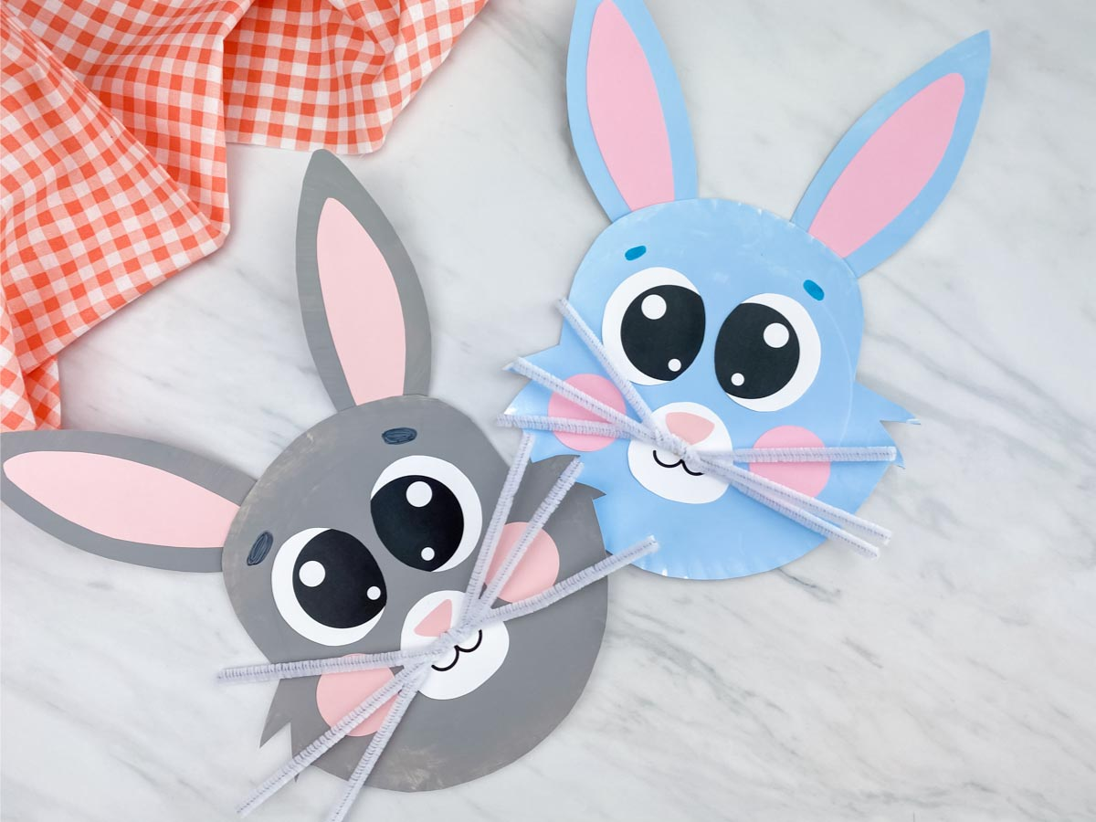 Cute Paper Plate Bunny Craft [Free Template]