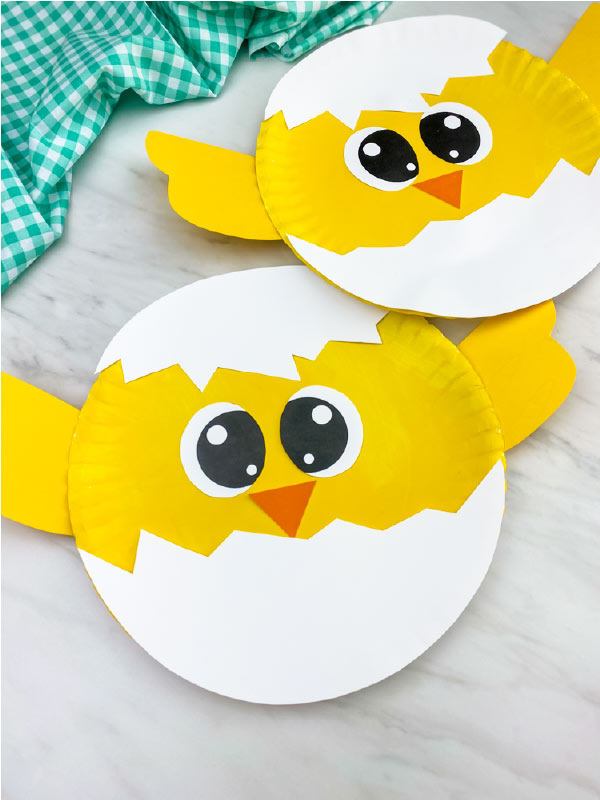 paper plate chick craft