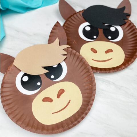 horse paper plate craft