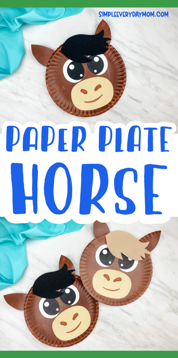 "Collage of paper plate horse images with the words ""paper plate horse"" in the middle"