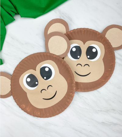 2 paper plate monkey crafts