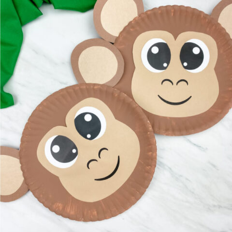 two paper plate monkeys