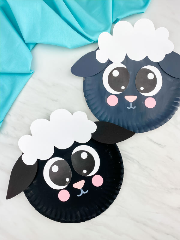 black and grey sheep craft
