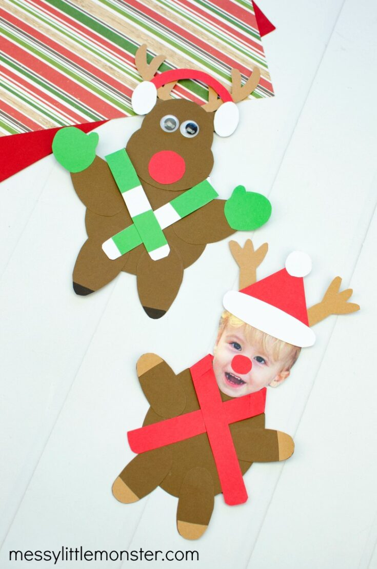 Mix and Match Paper Reindeer Craft (with printable template)
