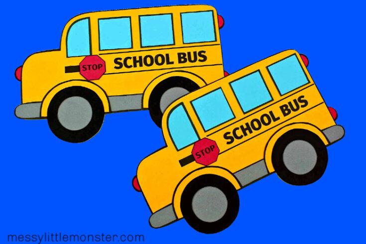 School Bus Craft (school bus template included)