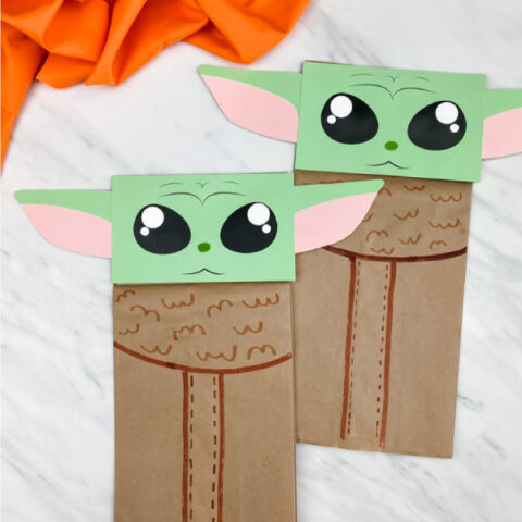 Baby Yoda Paper Bag Puppet Craft