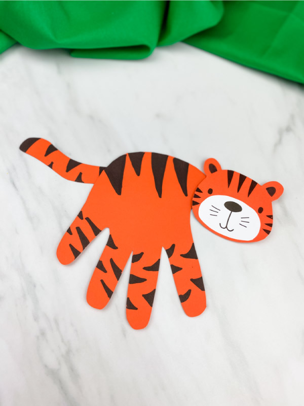 cute tiger craft for kids