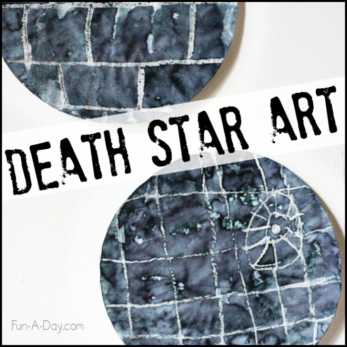 Crayon Resist Death Star