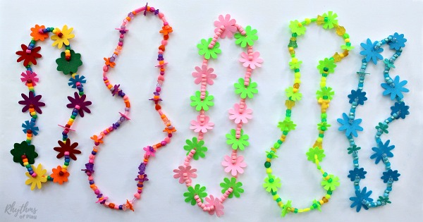 How to Make a Felt Flower Lei Necklace