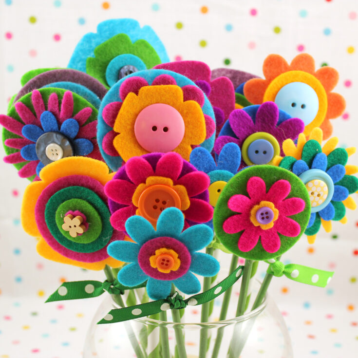 Quick & Easy Mother's Day Gift: Felt Flowers