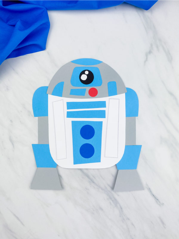 light blue r2d2 craft