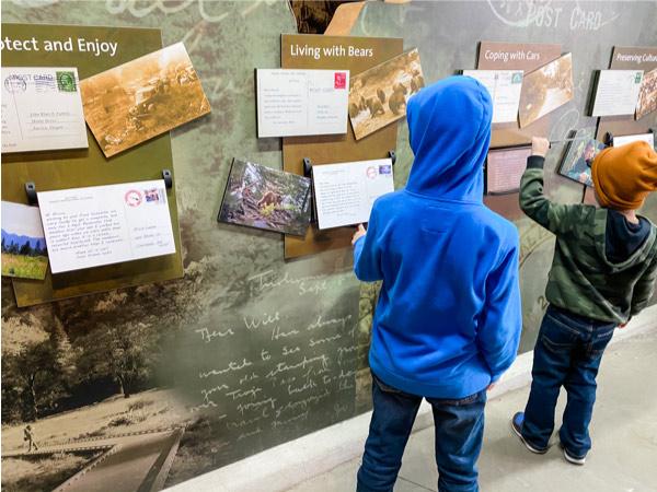 children at Yosemite exhibit hall