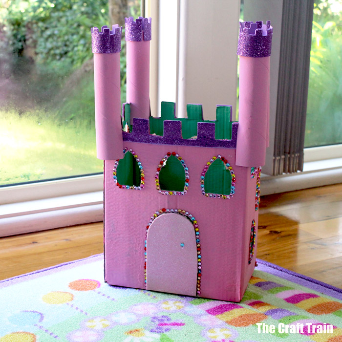 Cardboard castle craft for kids