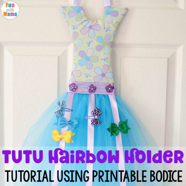 How to make a Tutu Bow Holder With a Bodice Template