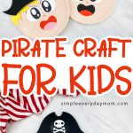 collage of two paper plate pirate boy crafts