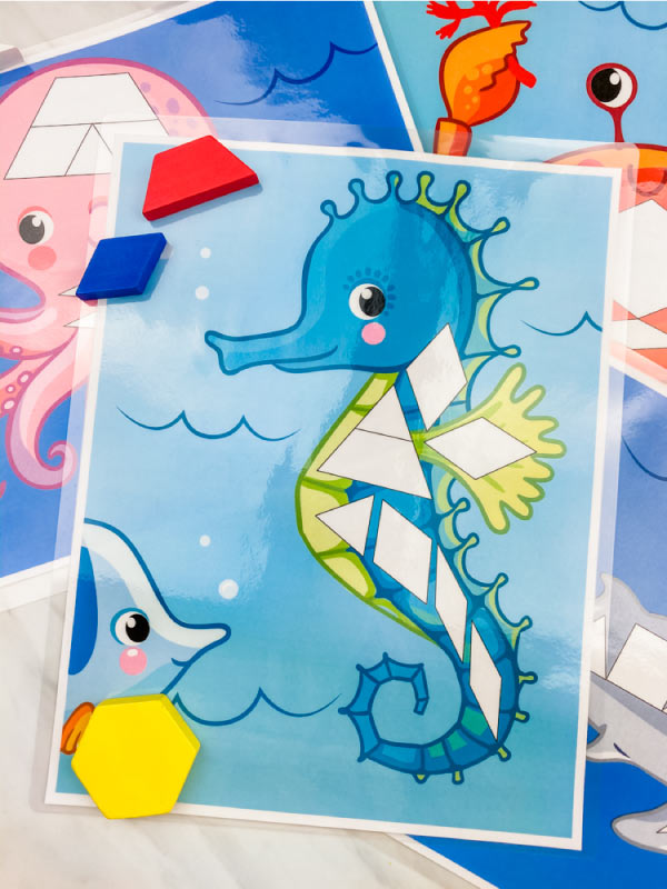 seahorse pattern block mat